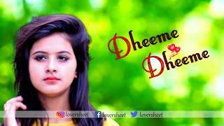 Download lagu Cute Love Story | Dheeme Dheeme - Tony Kakkar | Tiktok Viral Song | Ft. Pallabi | 2019