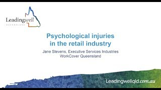 Mentally healthy workplaces in the retail sector
