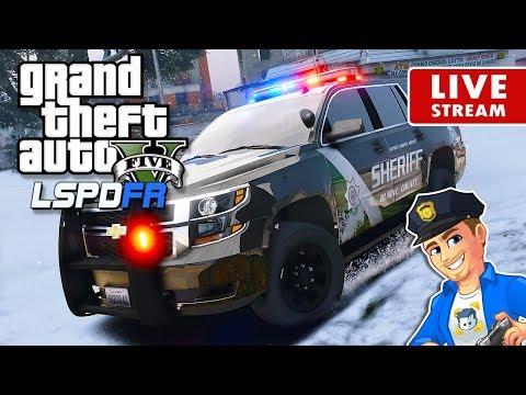 GTA 5 LSPDFR Snow Sheriff LIVE   GTA 5 LSPDFR Police Mod