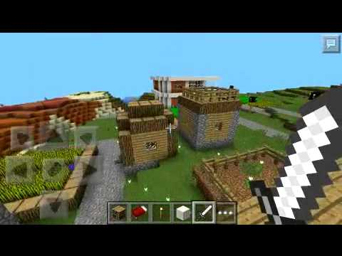 Minecraft pe descargar casa moderna en aldea youtube for Casa moderna en minecraft pe