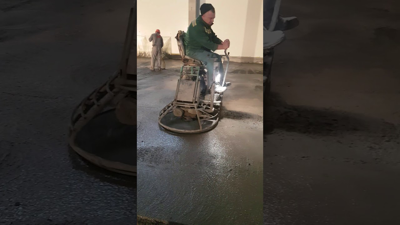 шлифовка бетона вертолетом видео