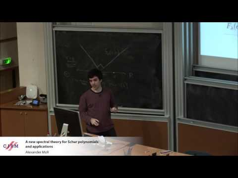 Alexander Moll: A new spectral theory for Schur polynomials and applications