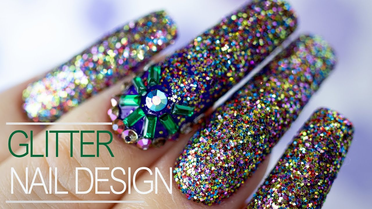 How To Apply Glitter To Gel Polish New Year Nail Art 2020 Youtube