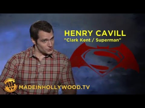 Henry Cavill Interview Batman v Superman Dawn of Justice