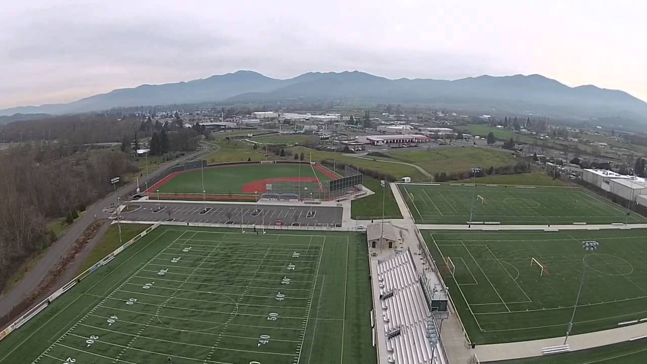 Drone Footage Usc Us Cellular Fields Park In Medford