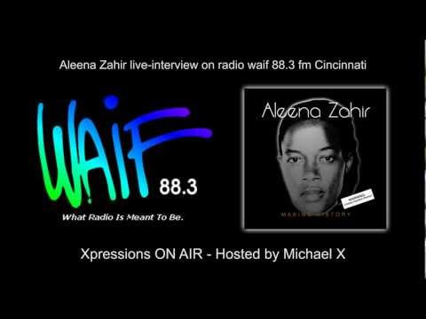 Aleena Zahir live-interview on radio WAIF 88.3 fm Cincinnati