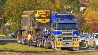 Trucks, Trains, And Cranes : Smc Heavy Haulage Moving T Class Loco