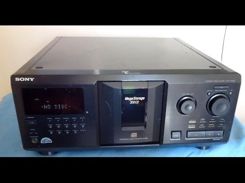 Sony Mega CDP-CX335 Compact Disc Player 300 Storage ____ (sn-8835633)