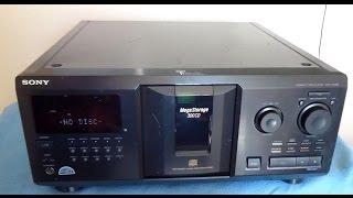 Sony Mega CDP-CX335 Compact Disc Player 300 Storage ____ (sn-8835633)