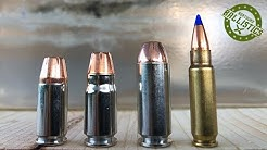 9mm vs .357 Sig vs 10mm vs 5.7x28mm vs Ballistic Gel