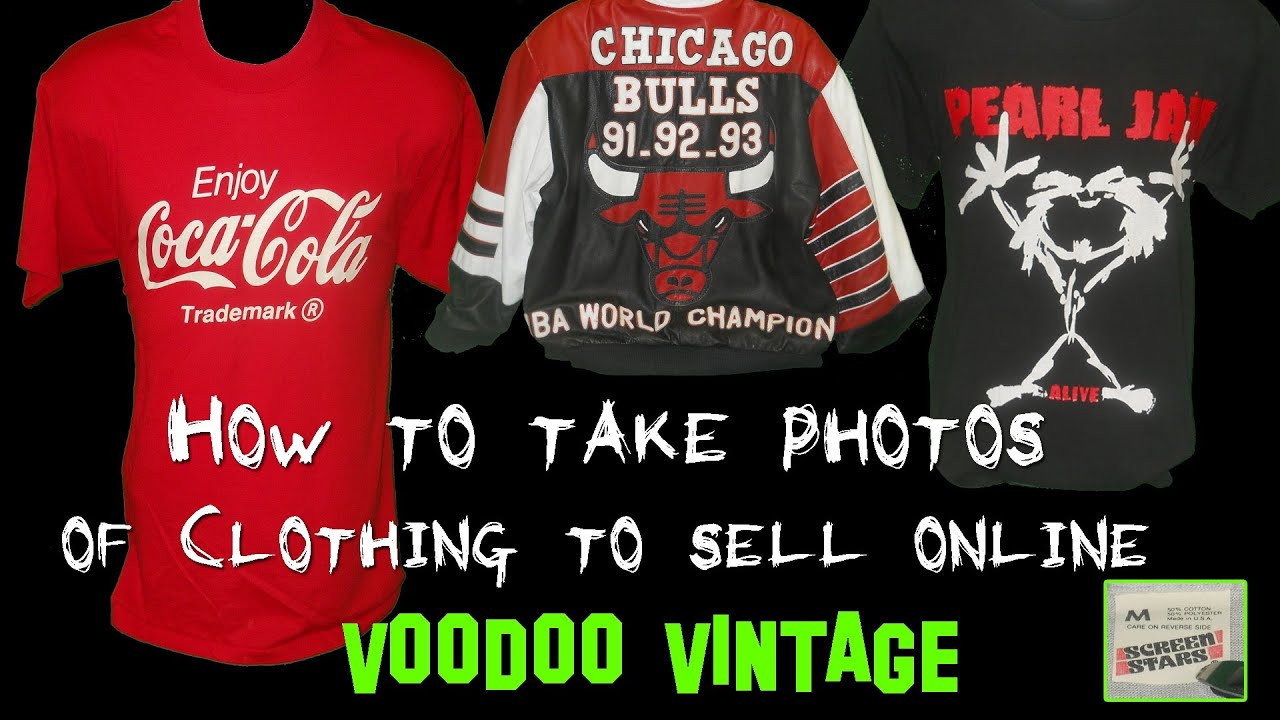 How to take photos of clothing to sell online on ebay and How to sell shirts