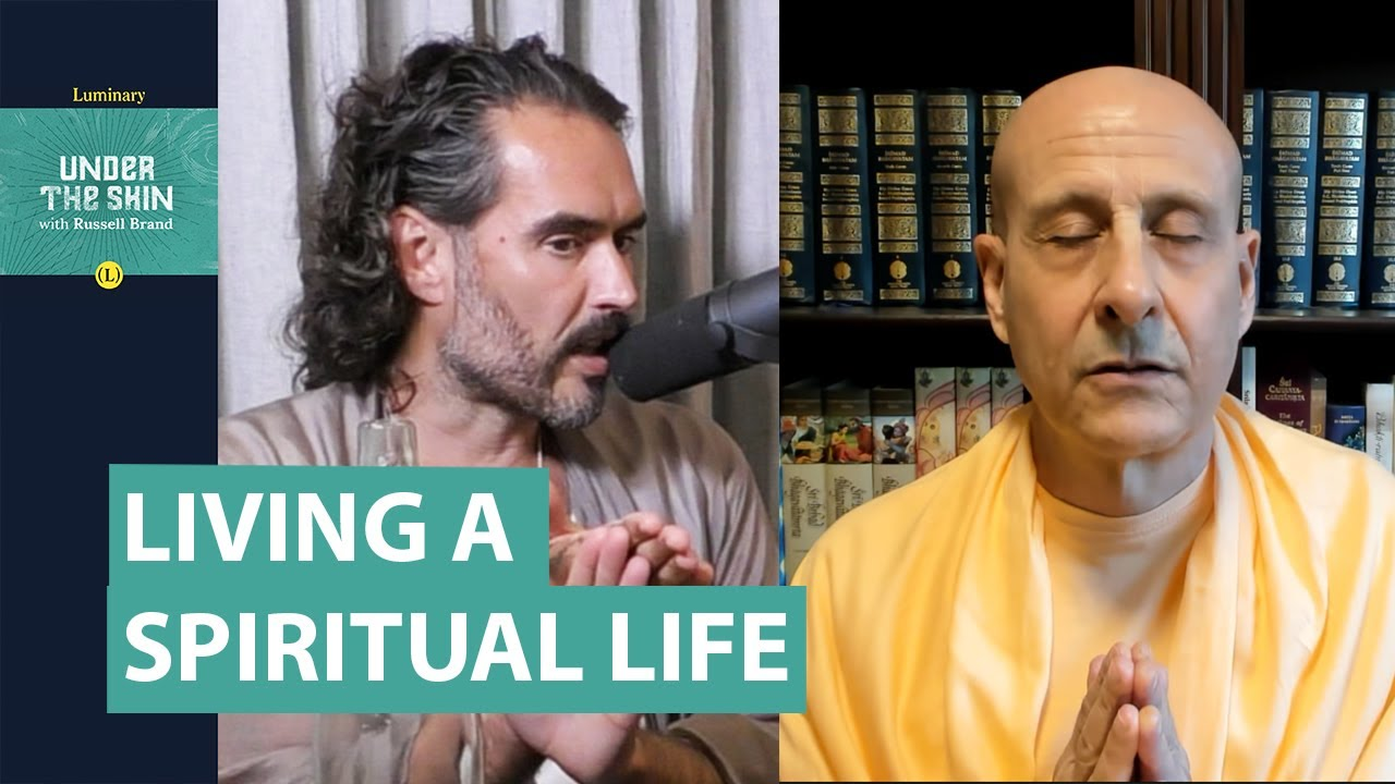 """Guru Explains What Is Meant By """"Living A Spiritual Life""""!   Russell Brand"""