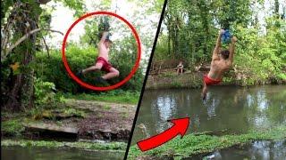 DIY GIANT ROPE SWING OVER LAKE!
