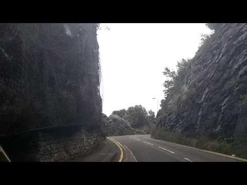 Driving into Bracelet Bay South Wales Nov  2013