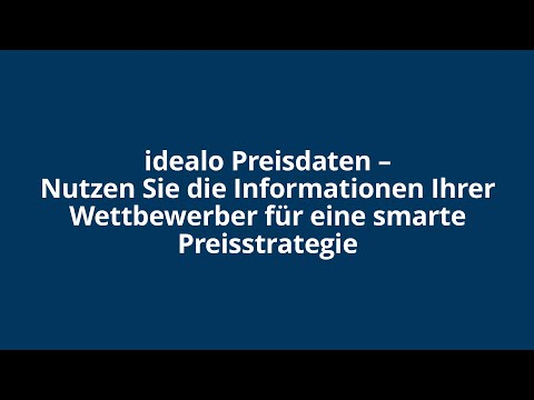 Webinar: idealo Preisdaten Report
