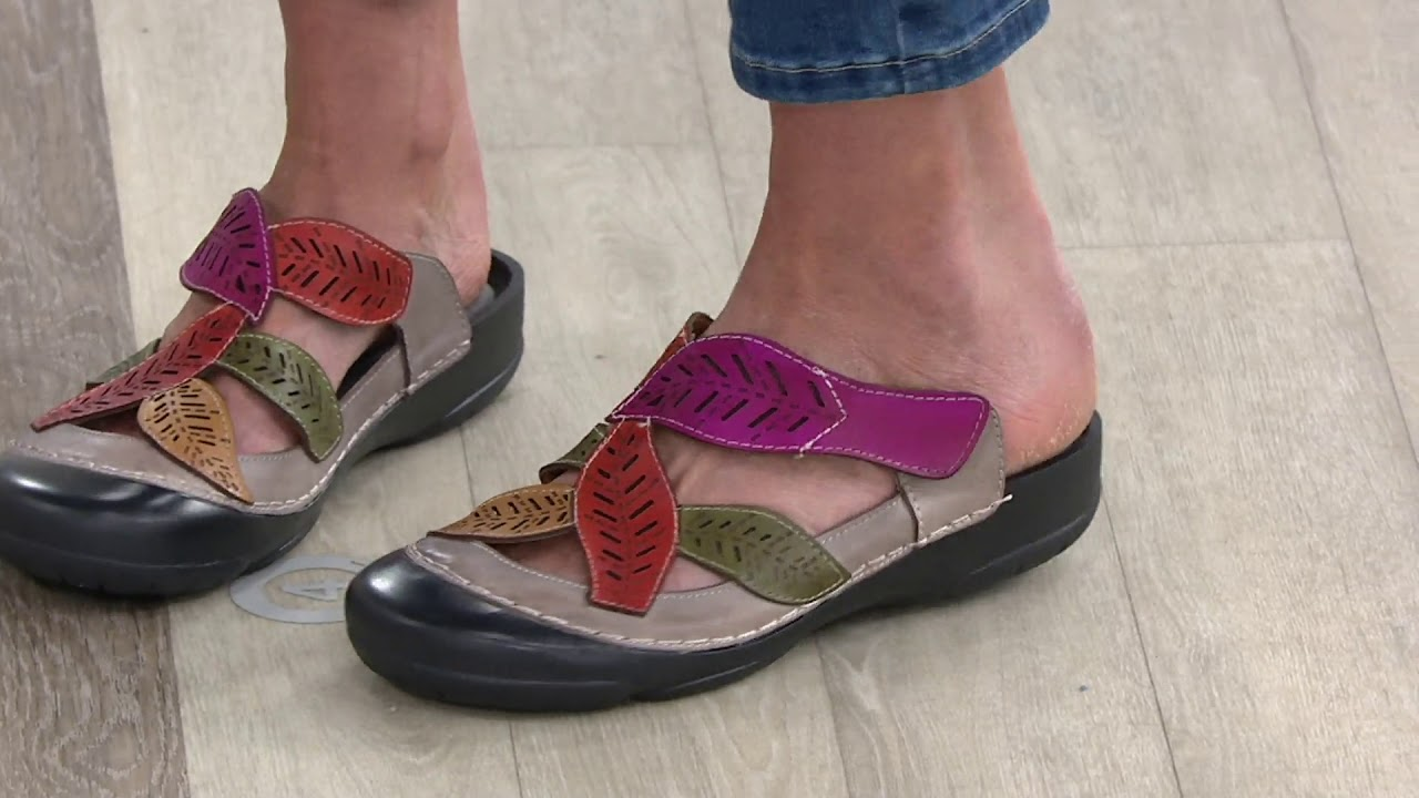 4cc8f68014b L Artiste by Spring Step Leather Clogs - Jexa on QVC - YouTube