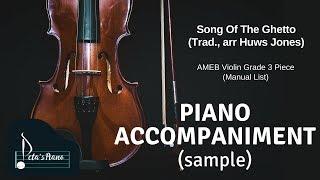 Song Of The Ghetto (Trad., arr Huws Jones) - Piano Accompaniment (sample)