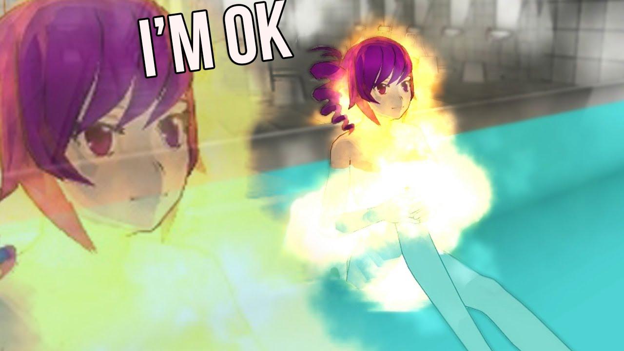 Kokona Takes A Fire Bath Yandere Simulator Glitches