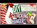 DIY STOCKING HANGER!! No Fireplace.. No Problem!!
