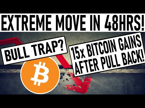 EXTREME BITCOIN MOVE IN 48HRS! 15x GAINS AFTER BITCOIN PULL BACK! ALTCOIN EXPLOSION! BTC BULL TRAP?