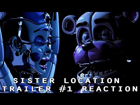 THE ANIMATRONICS REACT TO: Sister Location Trailer #1