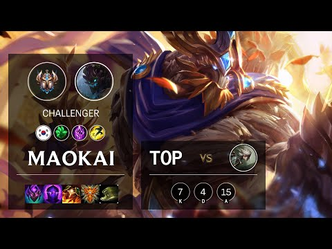 Maokai Top vs Camille - KR Challenger Patch 10.14