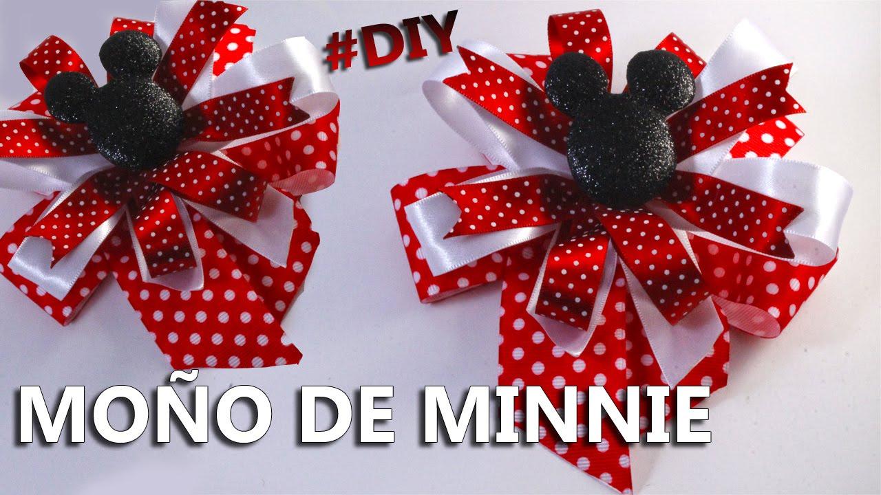 Como hacer un mo o de minnie mouse paso a paso - Manualidades minnie mouse ...