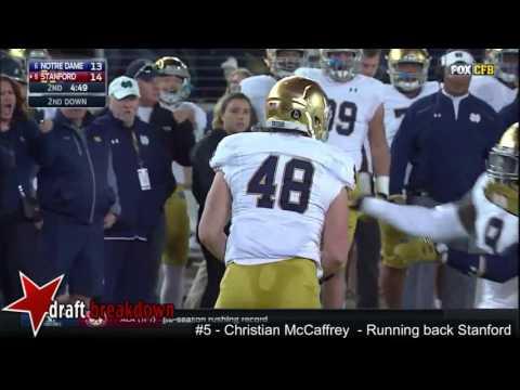 Christian McCaffrey(Stanford RB) vs Notre Dame 2015