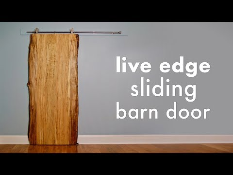 Ambrosia Maple Live Edge Sliding Barn Door // How To Build - Woodworking