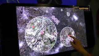 Multitouch-Application for Humboldt-University on Polytouch Multitouch-Flatscreen