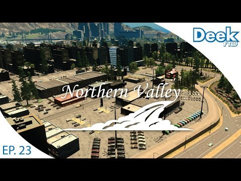 Let's Design Northern Valley Ep.23 - Commercial Center and Car Dealership - Cities Skylines