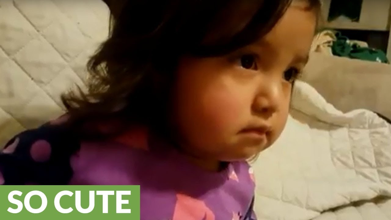 Baby Girl Gets Emotional Tears To Andrea Bocelli Song Youtube