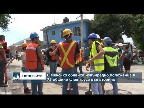В Мексико обявиха извънредно положение в 75 общини след труса във вторник