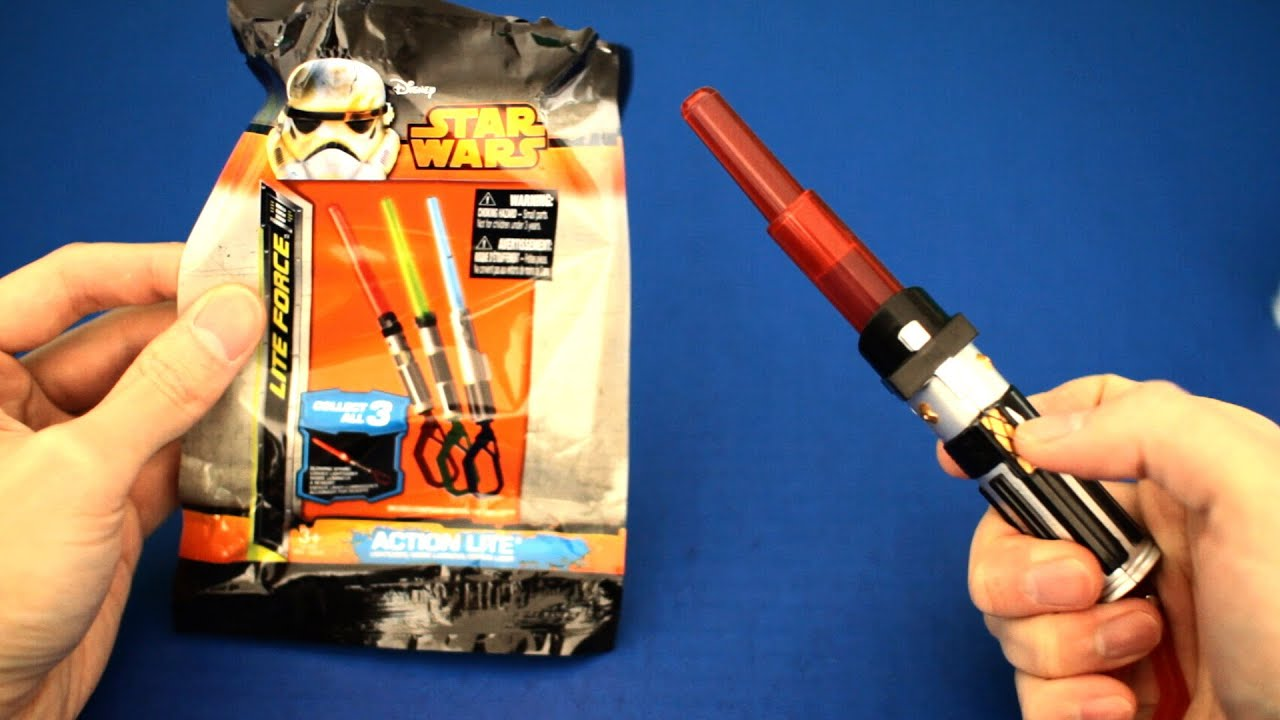 497b0fcd57 Disney Star Wars Lightsaber lite force toy with action lite - YouTube