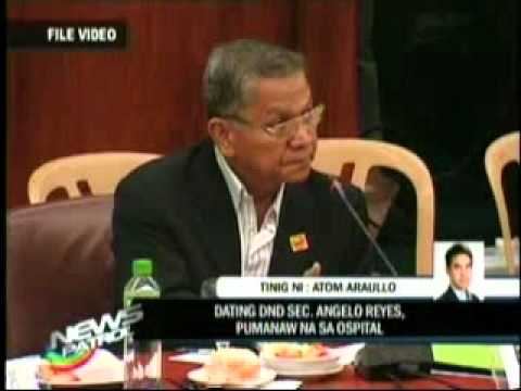 Sec. Angelo Reyes Commits Suicide Feb. 8, 2011