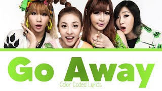 Gambar cover 2NE1 - GO AWAY (Japanese Version) Color Coded Lyrics