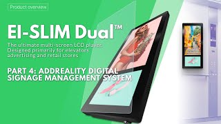 Elevator Advertising Dual LCD Display - 1.2  Part 4: Addreality Digital Signage Managing System