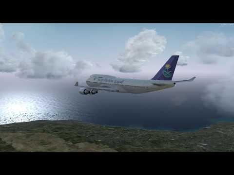 B747 Approach & Landing Beirut , Lebanon RWY 17