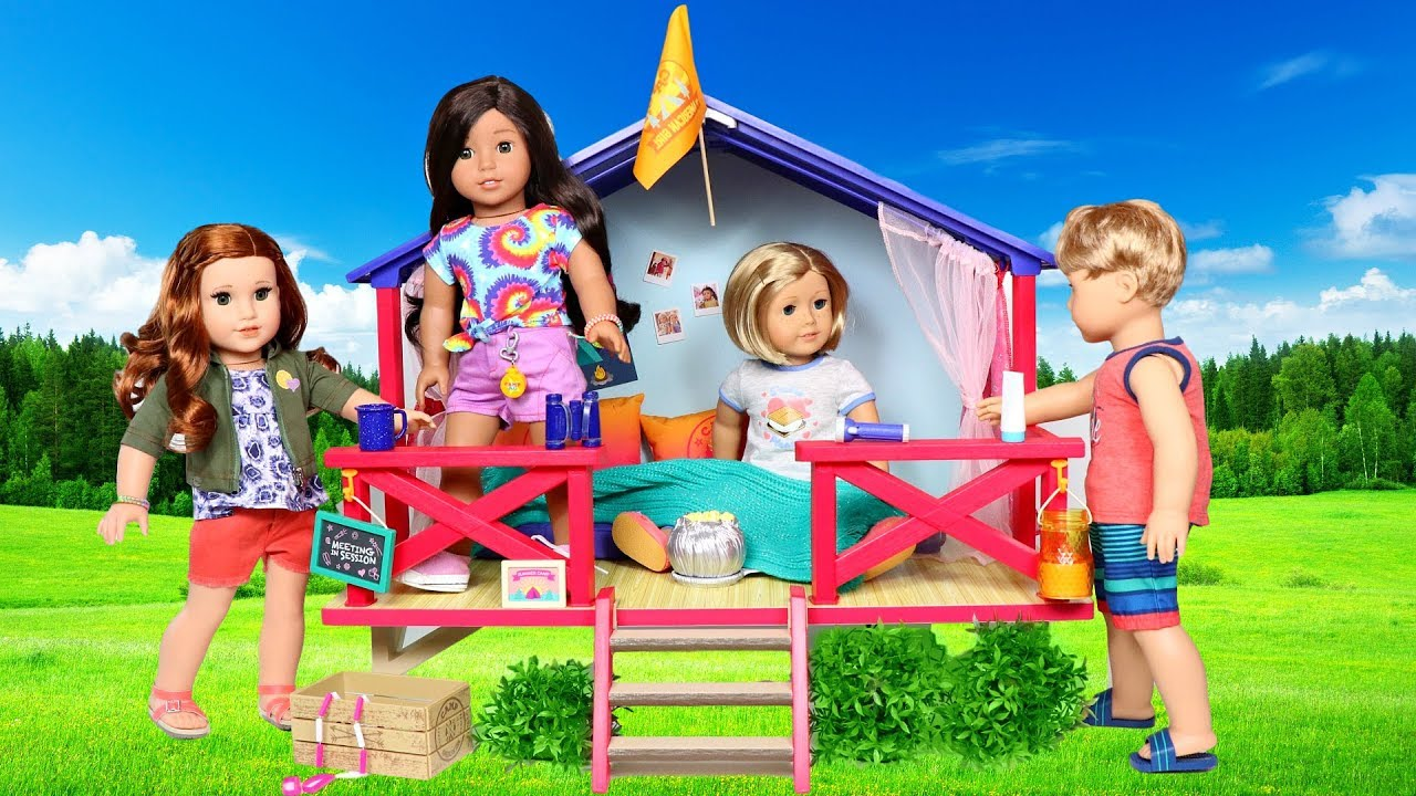 American Girl Doll Camp Hangout Set Cabin Review