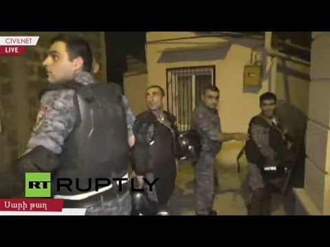 LIVE in Yerevan as Police Begin to Disperse Demonstrators Near Seized Building