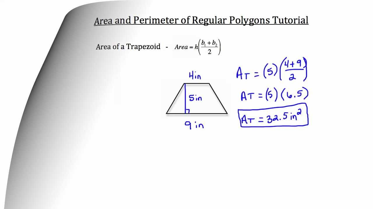 Area And Perimeter Of Regular Polygonstextbook Tactics