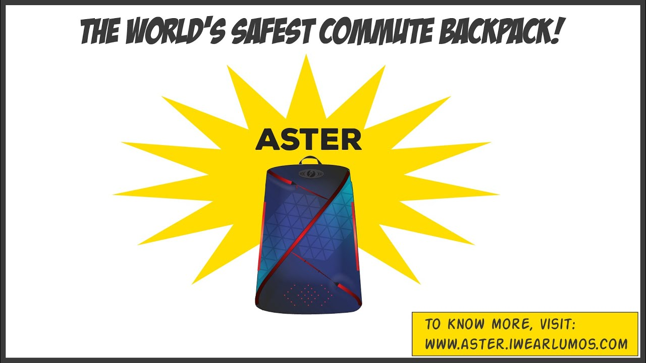 6dac8ecd9 Aster - safest commute backpack in the world.