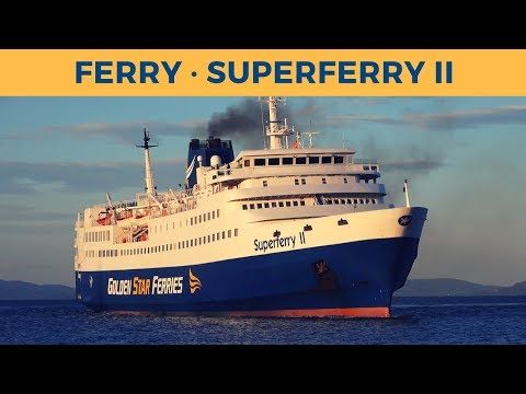 Arrival of ferry SUPERFERRY II in Rafina (Golden Star Ferries)