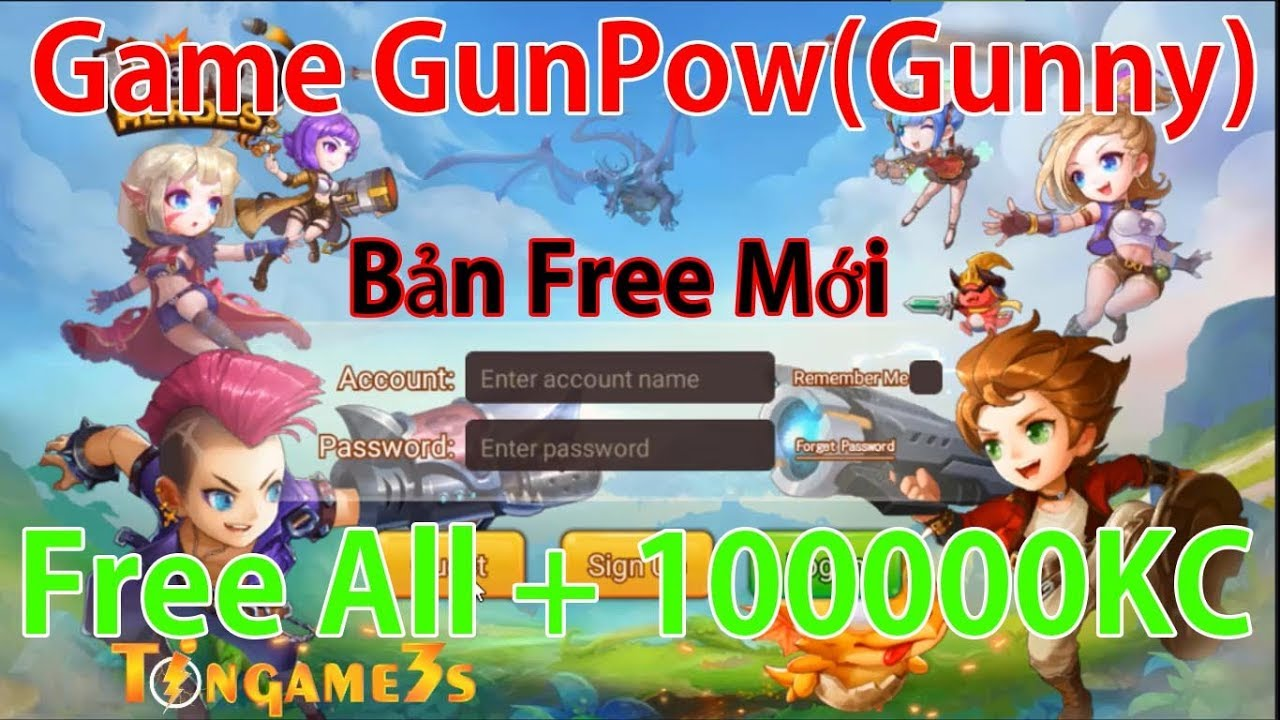 Game Mobile Private GunPow(Gunny) | Full All | 1000000KC + Quà Event | TinGame3s