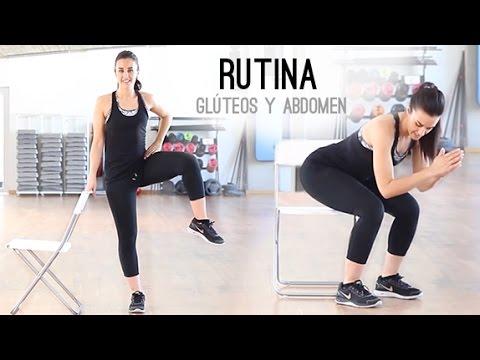 rutina gluteos y abdomen en casa
