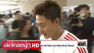 Lee Seung-woo to sign 4-year contract with Italian club Hellas Verona: reports