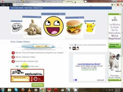 How To Convert Ur Pics Into Codes For Facebook Chat Use.avi