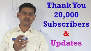 Thank You 20000 Subscribers on Ashok Etutor - New updates