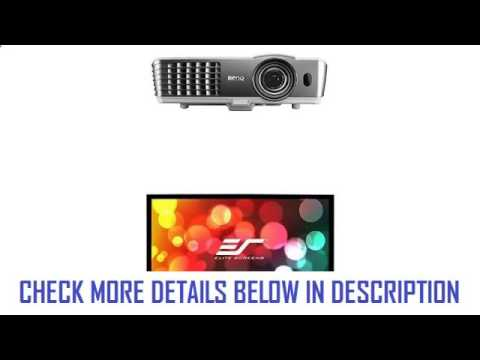 benq-ht1085st-3d-full-hd-short-throw-home-theater-projector-and-elite-screens-sable-frame-b2-series