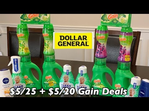 Dollar General $5/25 Couponing   Gain Is 🔥🔥🔥  $2.80 For 9 Items!